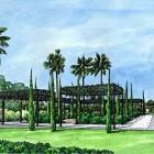Primer premio del C.I.T ( centro de iniciativas turísticas ) al jardín de crucero de Aloha en Marbella